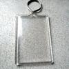 Keychain shell with custom artwork lenticular print image