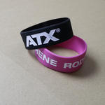 Extra wide silicone bracelets (25mm width) with custom artwork image