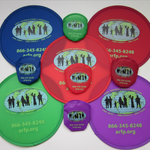 Folding Frisbee with pouch and your bespoke print or logo image