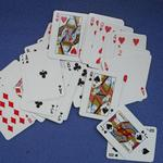 Mini size custom printed playing cards image