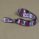 Festival wristbands 15mm wide with bespoke  print image